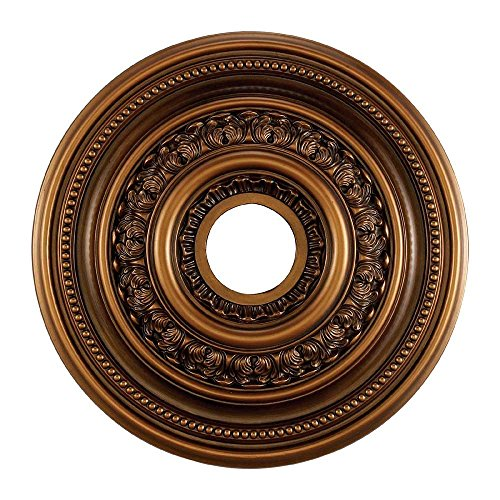 Elk M1002AB English Study Ceiling Medallion, 18-Inch, Antique Brass Finish