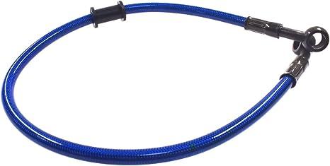 Blue Dirt Bike 10mm Ends Fitting Brake Oil Hose Line Pipe 60cm Fuel Line