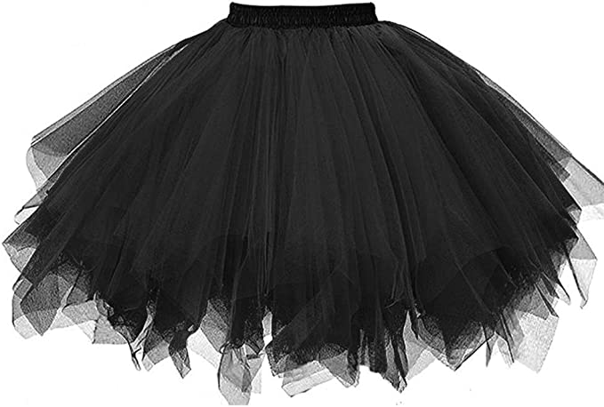 Adult Mutil-layer Tutu Black White Red Fancy Dress Hens Night outfit Accessories