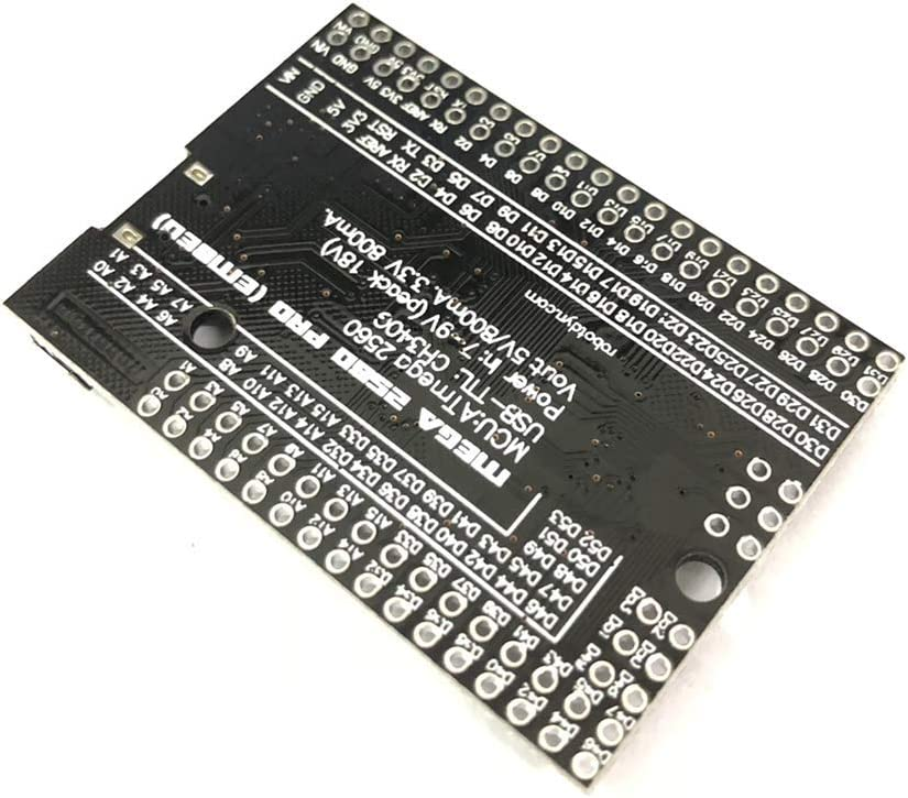 SongHe MEGA 2560 PRO Embed CH340G//ATMEGA2560-16AU Chip with Male Pinheaders Compatible for Arduino Mega2560 Module