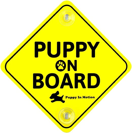 Amazon Com Puppy On Board Car Sign Kitchen Dining