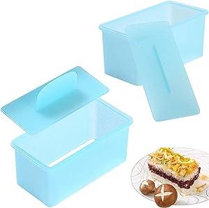 2 Pack Musubi Maker Press, Spam Sushi Mold - BPA Free, Non-Stick & Non-Toxic Sushi Making Kit, Make Your Own Sushi at Home - Hawaiian Spam Musubi, Kimbab, Onigiri (blue)