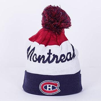 916180bf78b893 Reebok Cuffed Knit Montreal Canadiens Hat with Pom 2016/17: Amazon ...