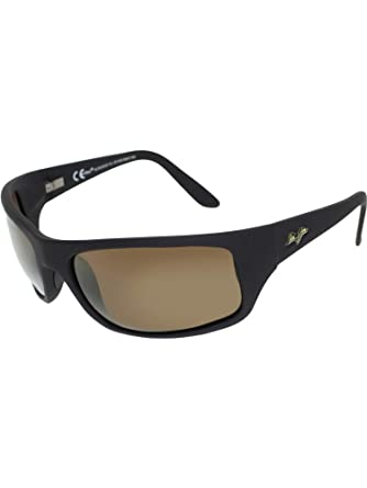 d471dc9787 Amazon.com  Maui Jim Peahi Sunglasses - Polarized Matte Black Rubber ...