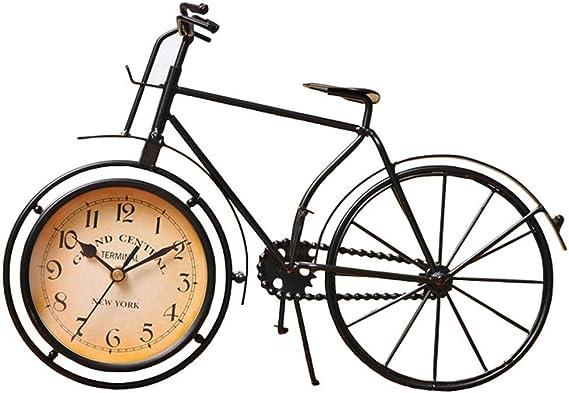 QMWY Table Clocks,Artesaníaantigua Retro Estilo Vintage Bicicleta ...