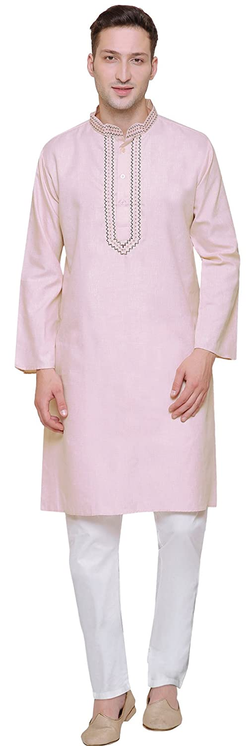 Maple Clothing Cotton Embroidered Mens Kurta Pajama India Clothes ktp172141ap
