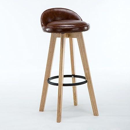 Gzd Sitzhocker Vintage Holzhocker Pu Und Leinen Ledersessel