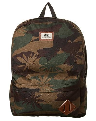 7543856c70 VANS Old Skool Ii 22L Backpack Leaf Peace Camo Surf bag Brown Green Men  Women Unisex
