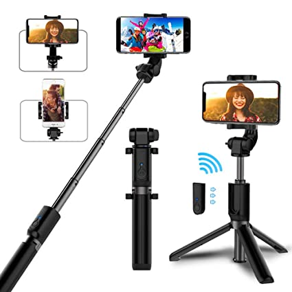 quality design 5f089 b57c0 Selfie Stick Bluetooth, AYY Extendable Selfie Stick Tripod with Wireless  Remote Selfie Stick for iPhone Xs/iPhone XR/iPhone Xs Max/iPhone X/iPhone  8/8 ...