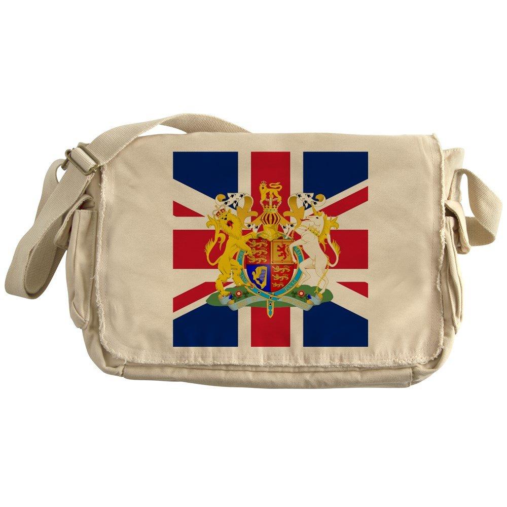 CafePress - UK Flag And Coat Of Arms - Unique Messenger Bag, Canvas Courier Bag
