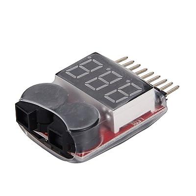 1s de 8S RC Lipo batterie Tester Indicateur Warner Indicateur LED Alarme Checker Voltage Buzzer Protection
