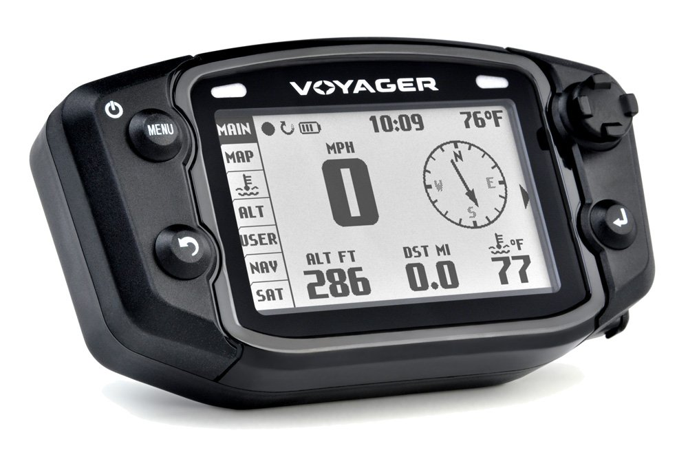 Trail Tech 912-704 Voyager Stealth Black Moto-GPS Computer