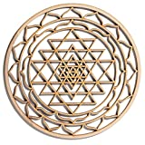 "12"" Sri Yantra, Hindu Tantra, wooden wall art hanging home decor, sacred geometry art, wood sculpture, wall decorations, USA made geometric"
