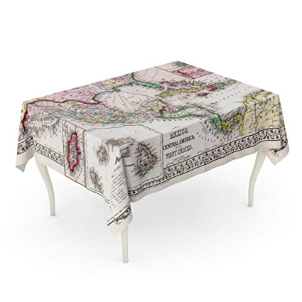 Swell Amazon Com Emvency Rectangle Tablecloth 60 X 102 Inch Old Beutiful Home Inspiration Aditmahrainfo
