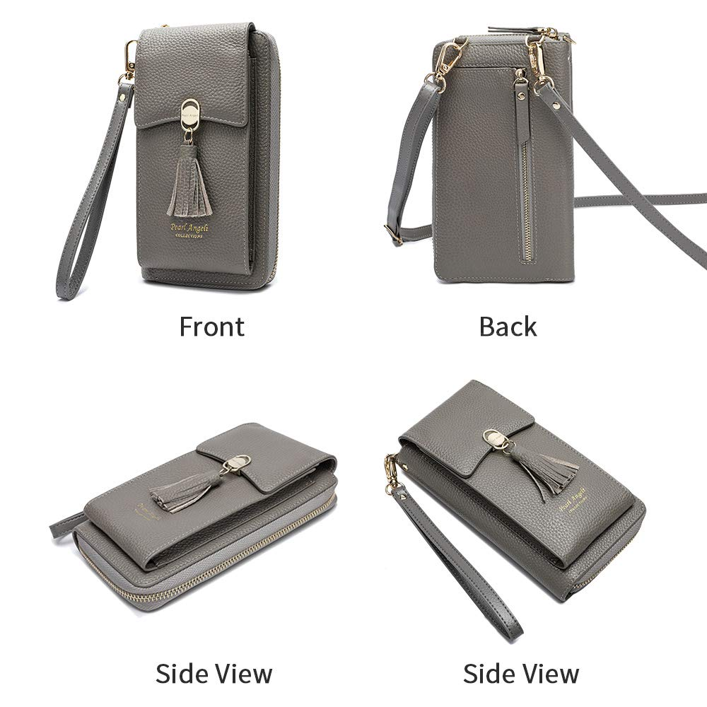 Pearl Angeli Phone Crossbody Wallet Rfid Blocking Wristlet Womens Cellphone Pouch Ladies Small Shoulder Bag