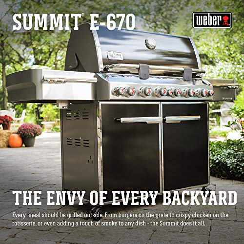 Weber Summit 7371001 E-670 769-Square-Inch 60,800-BTU Liquid-Propane Gas Grill, Black