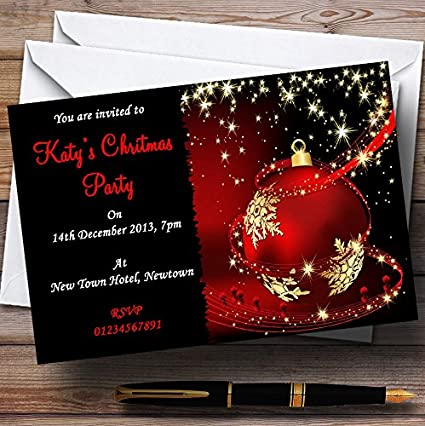 Amazon Com Red Gold Black Stunning Personalized Christmas New