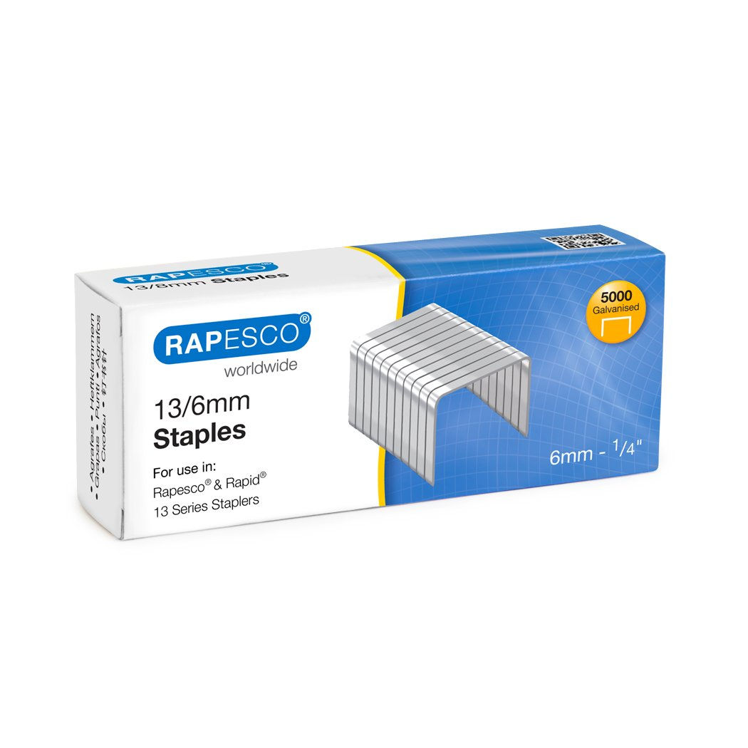 Rapesco S13060Z3 Boîte de 5000 Agrafes Argent agrafes métallique