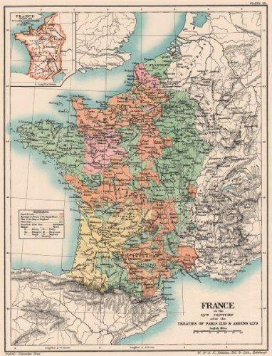 13c France Treaties Of Paris 1259 Amiens 1279 Baillages