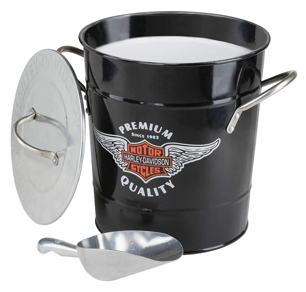 Harley-Davidson Winged Bar & Shield Ice Bucket, 3.75 Quart - Black HDL-18582 by HARLEY-DAVIDSON