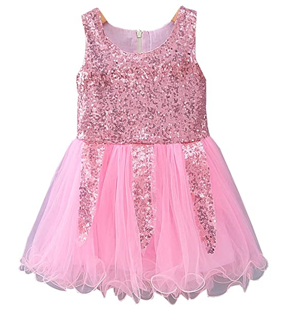 89b2cd85d096b Toddler Kids Baby Girls Dress Sleeveless Sequins Bow-Knot Party Wedding  Prom Princess Lace Tutu