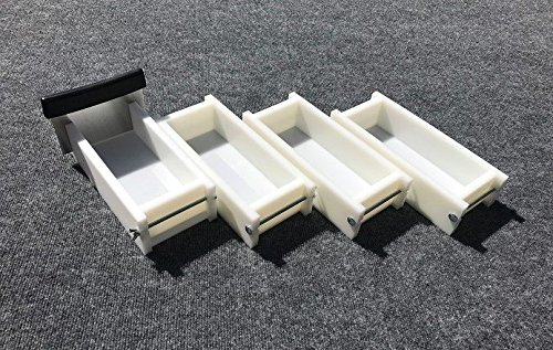Lot of 3 HDPE Soap Loaf Making Mold and Single Slot Soap Cutter 2 - 3 lb ea mold