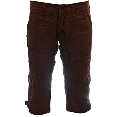 b4ecd89d Molecule Women's Radical Roadwarriors Regular Fit Low Rise Brown Cargo  Capri Pant | USA 2/