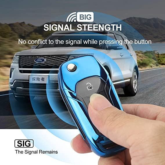 linwei for Ford Key Cover, Premium Soft Rubber for Ford Key case to Protect The car Keys from Scratches Lightweight and Durable for for Ford F-150 ...