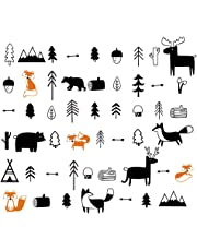 decalmile Woodland Animals Wall Decals Deers Foxes Trees Wall Stickers Nursery Wall Art Decor Kids Bedroom Baby Room Decoration