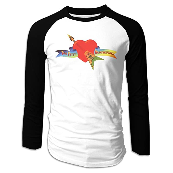 404b8618e Men Tom Petty And The Heartbreakers Tom Petty Dress Long Sleeve Raglan Tops  Shirt