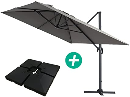 Habitat et jardin ombrellone decentrato in alluminio sun