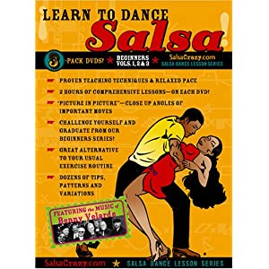 Salsa Dancing Lessons, Beginners Salsa 3 Pack DVD SET: Salsa Dance Lessons (3 DVDs)