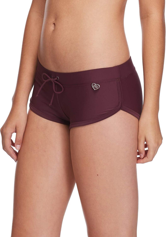Body Glove Womens Sidekick Sporty Bikini Bottom Swimsuit Short,