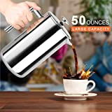 Secura 1500ML French Press Professional Rust