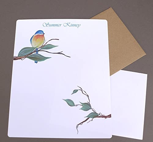 Women/'s Dragonfly Personalized Writing Paper /& Flat Note Cards Letter Writing Set Girl/'s Custom Stationery Gift Set Correspondence Cards