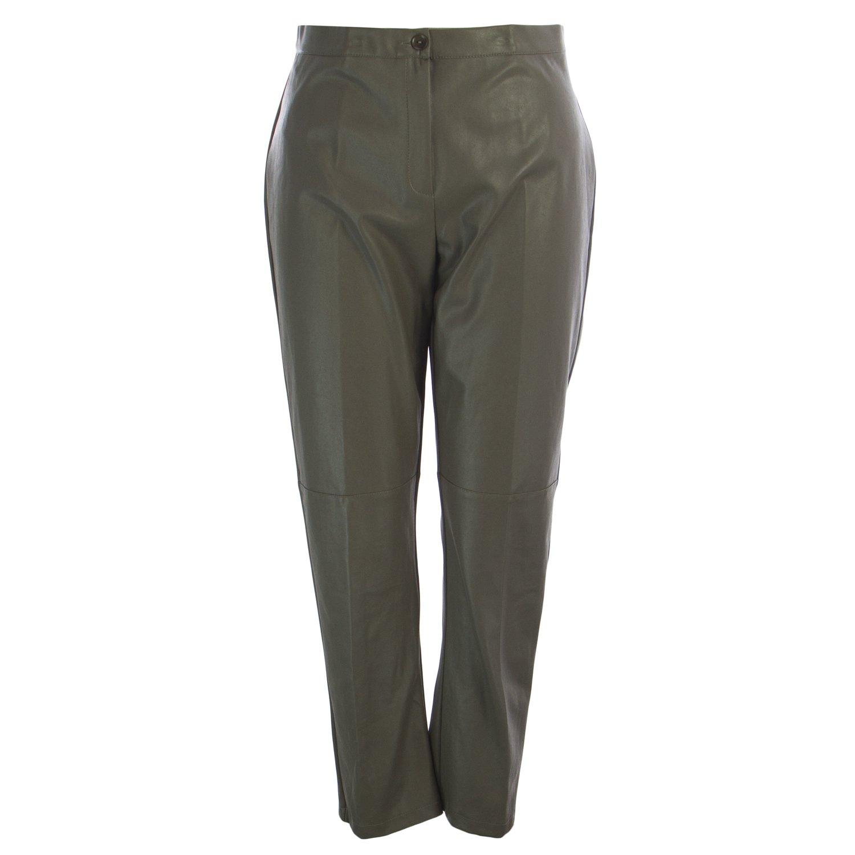 Marina Rinaldi Women's Reims Faux Leather Pants 22W / 31 Grey