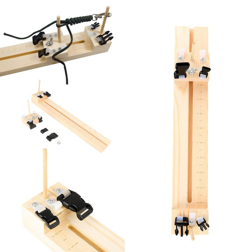 LiCHY 2017 Bracelet Knitting Tool Wristband Knitting Tool DIY Wood Paracord Jig Bracelet Maker Wristband Maker MultiPurpose