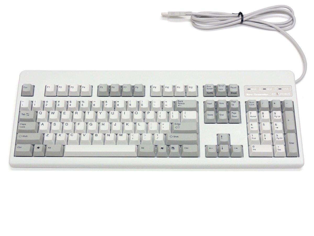 Topre Realforce 104u USB Keyboard English Layout White Xf01t0