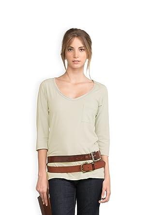 7d7c799c09983b Amazon.com: NEUSHOP Women's Emile 100% Cotton 3/4 Sleeve Premium T ...