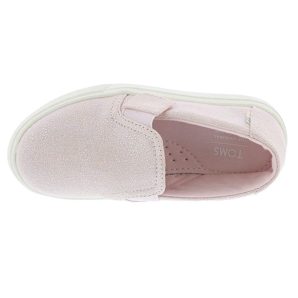 TOMS Luca Tiny Girls' Infant-Toddler Slip On 7 M US Toddler Pink-Iridescent by TOMS Kids (Image #2)