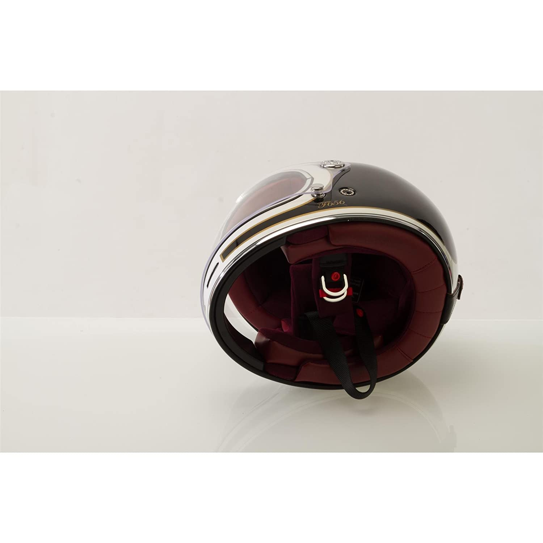 L 59-60 CM VIPER F656 FIBRE DE VERRE INTEGRAUX MOTO CHOPPER RETRO CRUISER BOBBER VINTAGE CASQUE GRINGO ECE APPROUV/É BLANCO