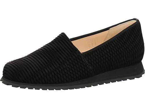 Hassia Piacenza - Mocasines de tela para mujer, color negro, talla 42: Amazon.es: Zapatos y complementos