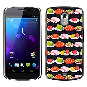 Graphic4You SUSHI FOOD PATTERN Thin Slim Rigid Hard Case Cover for Samsung Galaxy Nexus