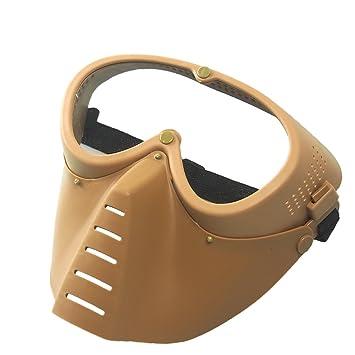 BK Wwman m/áscara t/áctica gen/érica protecci/ón militar para airsoft o Paintball m/áscara negra de cara completa con gafas.