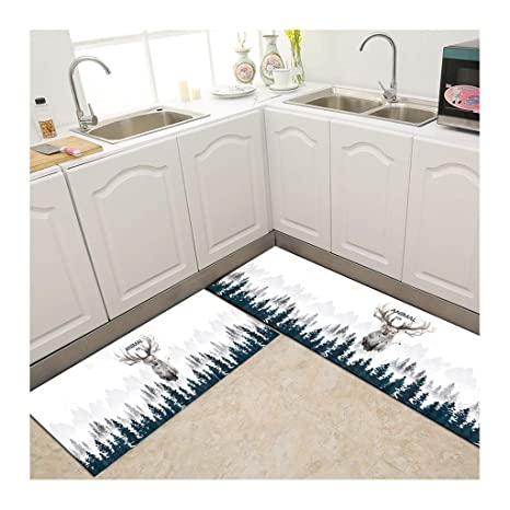 Amazon Com Modern Rectangle Mat For Kitchen Non Slip