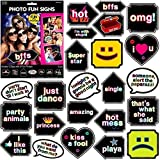 """Carnival Fair Fun Let's Party Photo Fun Signs Game Party Activity, 6"""" x 7"""", Pack of 12"""