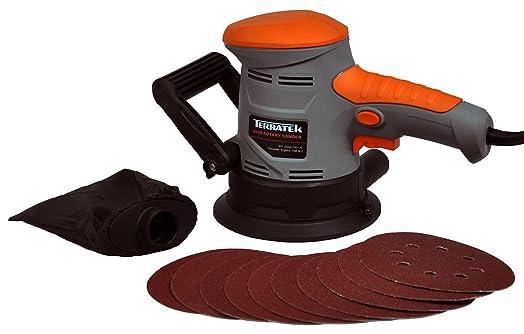 electric orbital sander. terratek 450w electric sander, orbital disc rotary sander includes 10 sanding s