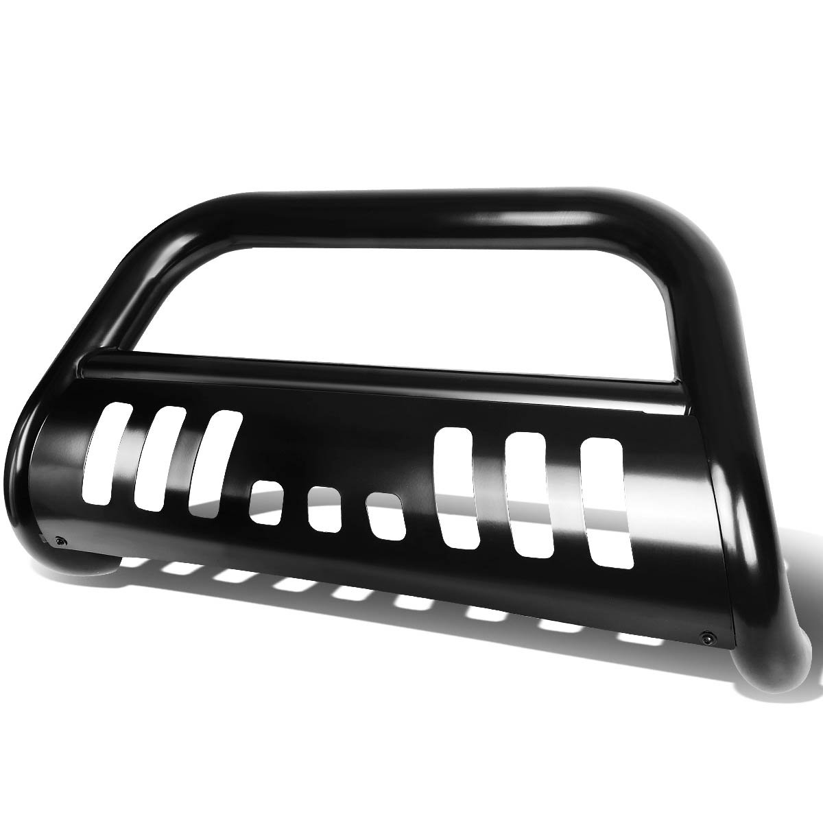 For Chevy C/K-Series C10 GMT400 3'' Bumper Push Bull Bar+Removable Skid Plate (Black)