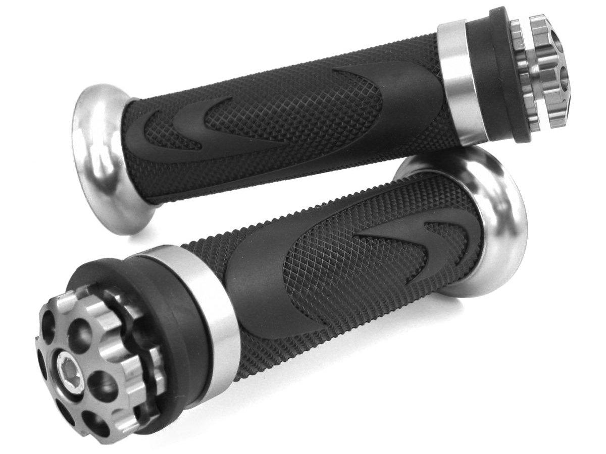 250 920 1000 RS1 // Silver 500 650 // Grips Yamaha XV // XVS 750 950 CNC Aluminium Handlebar Grips Yamaha XV // XVS 125