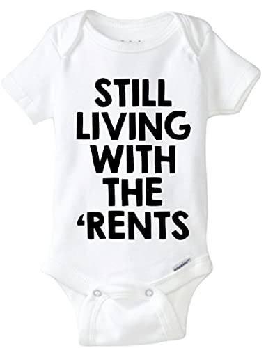 0752eb028 Amazon.com: Still Living With The Rents Onesie, I Still Live With My Parents,  Funny Baby Onesie: Handmade